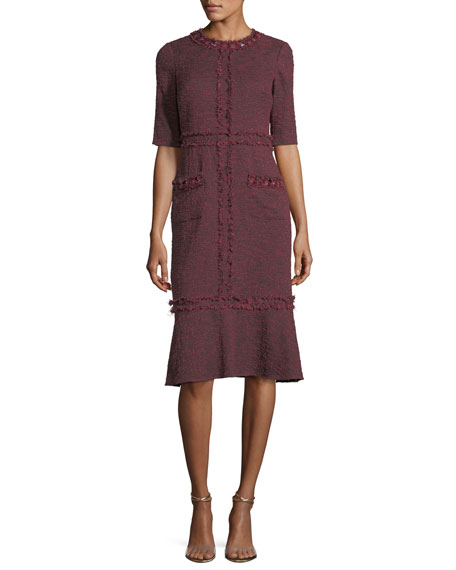 Rickie Freeman for Teri Jon Tweed Cocktail Dress