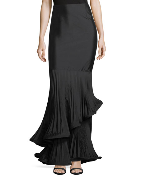 Rickie Freeman for Teri Jon Taffeta Long Skirt