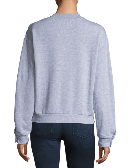 Shoulder-Toggle Sweatshirt