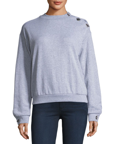 Free Generation Shoulder-Toggle Sweatshirt