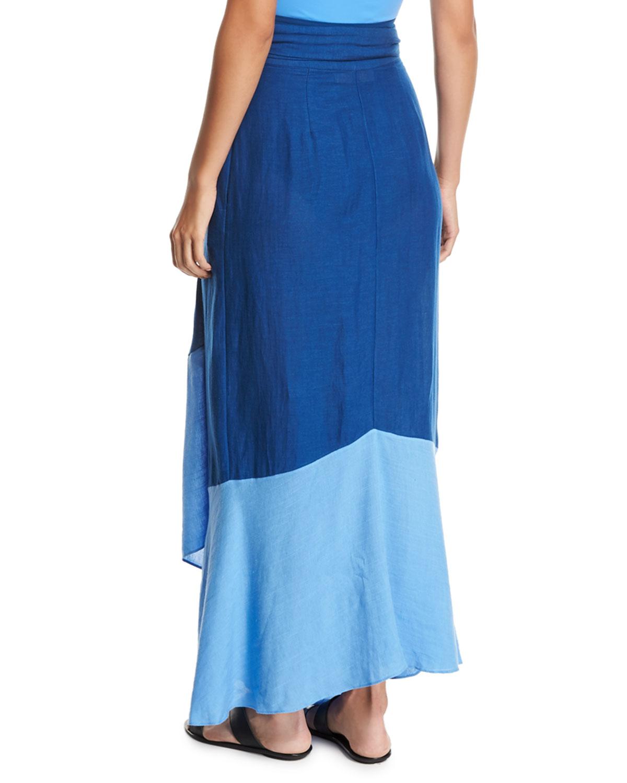 bc4e6bb0e9 Diane von Furstenberg Draped Wrap Beach Skirt   Neiman Marcus
