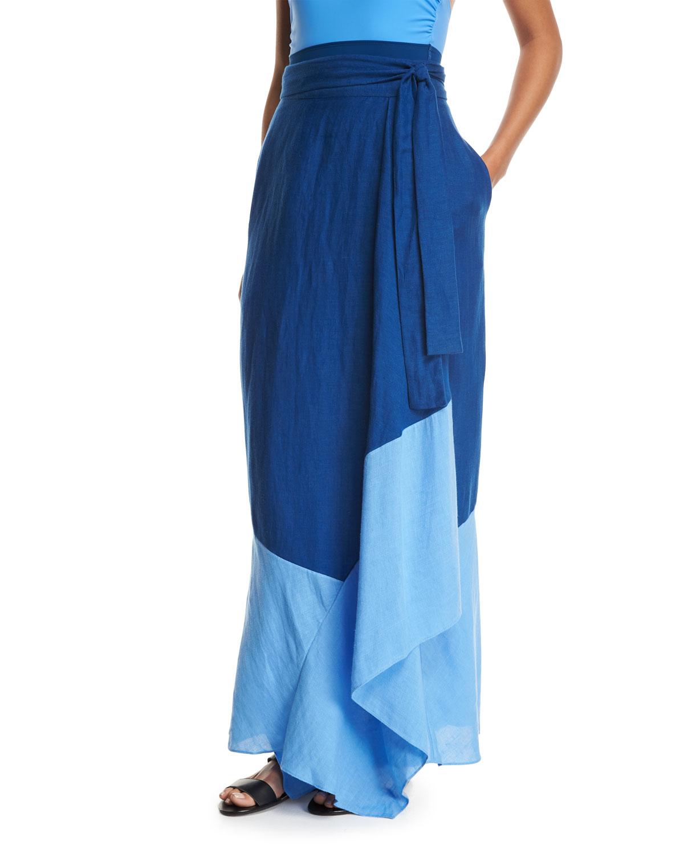 c7e1538a9b9bf Diane von Furstenberg Draped Wrap Beach Skirt | Neiman Marcus