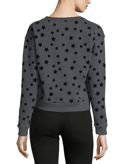 Flocked-Stars Sweatshirt