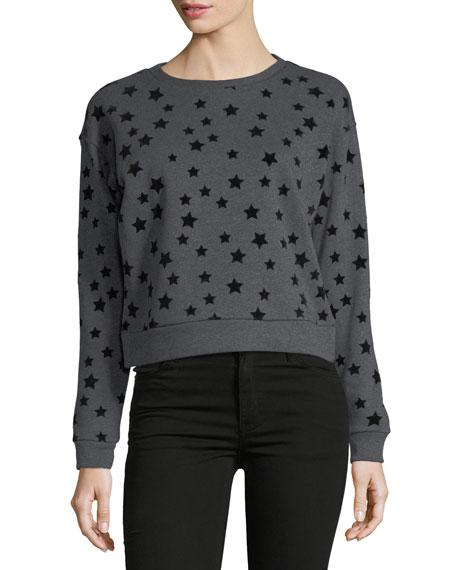 Free Generation Flocked-Stars Sweatshirt