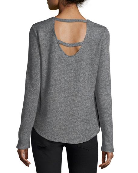 Elyse Long-Sleeve Cutout Top