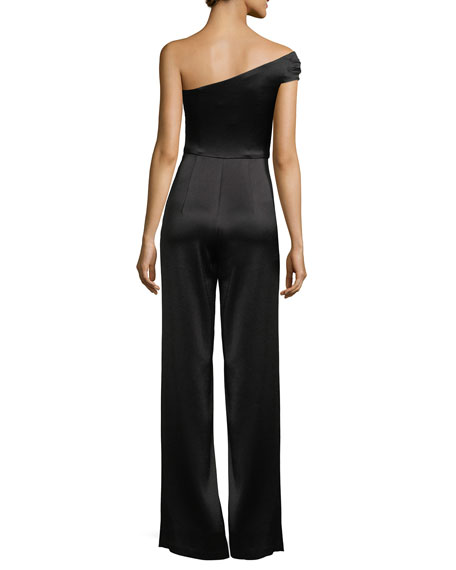 Angelica One-Shoulder Wide-Leg Jumpsuit