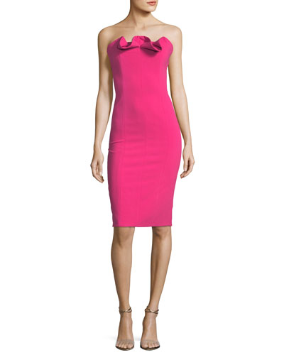 Allysandro Strapless Fitted Sheath Cocktail Dress