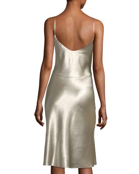 Bessette Sleeveless Bias-Cut Slip Cocktail Dress