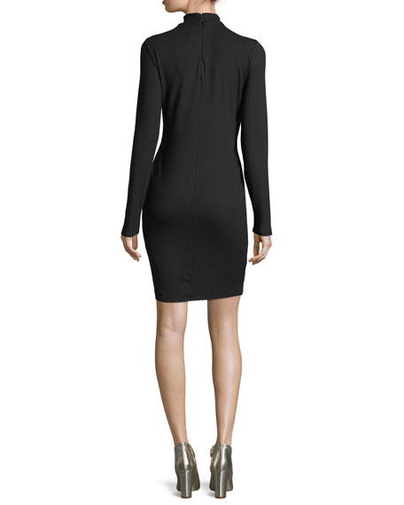 Lenni Scoop-Neck Long-Sleeve Dress
