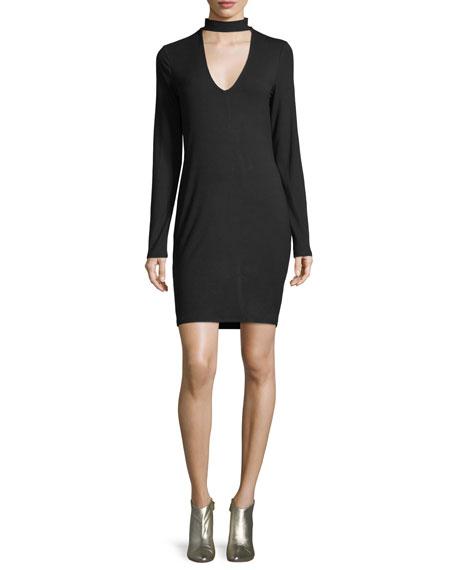 Lenni Scoop-Neck Long-Sleeve Dress
