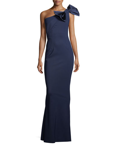 Jasmine Asymmetric Bow-Detail Gown