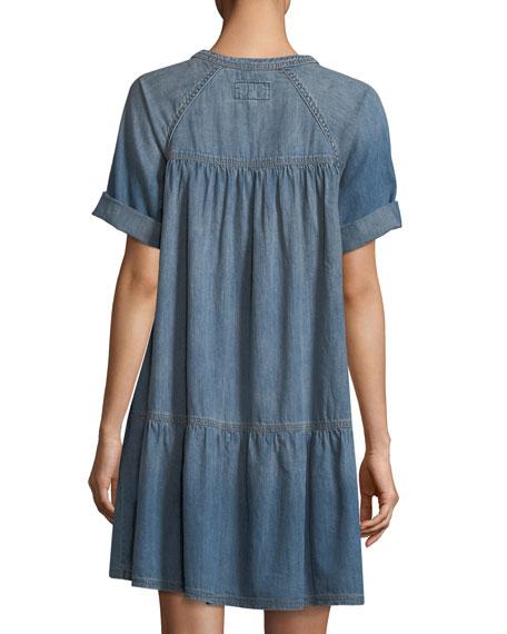 Denim Raglan Tee Dress
