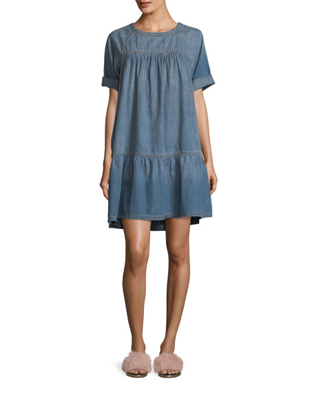 Current/Elliott Denim Raglan Tee Dress