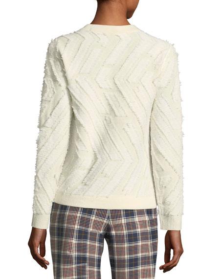 Weston Textured Sweater w/ Chevron Stitching
