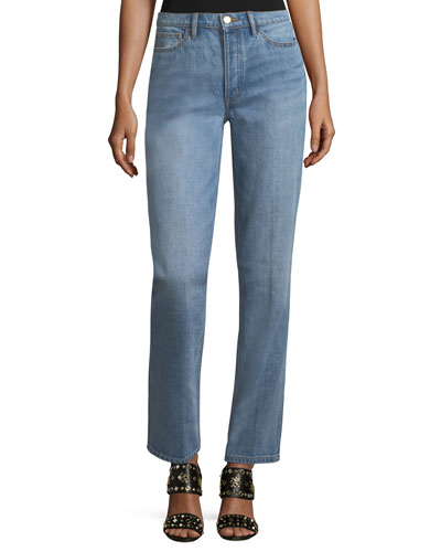 Betsy Faded Straight-Leg Jeans