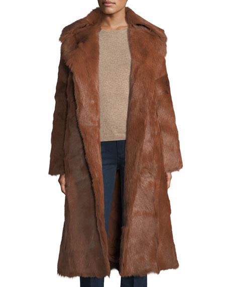 Anya Long Goat Fur Coat