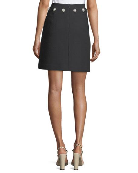 Fremont Stone-Waist Short Twill Skirt