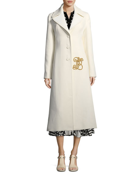 Thomas Double-Weave Long Coat