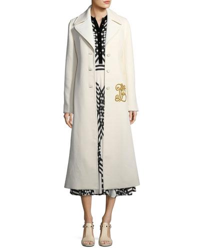 Thomas Double-Weave Long Coat