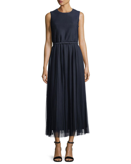 Lafayette 148 New York Charlotte Pleated-Mesh Dress