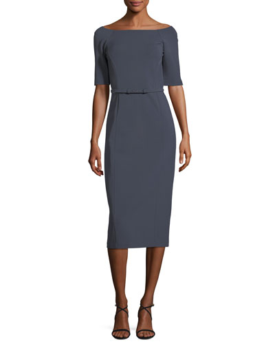 Batina Belted Maquette Jersey Dress
