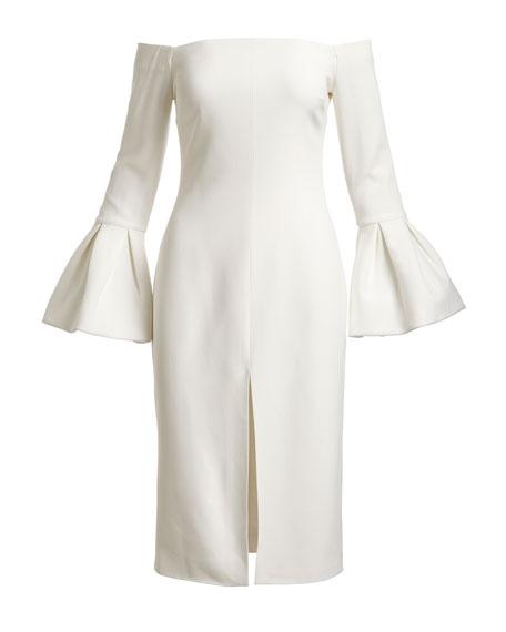 Nirvana Off-the-Shoulder Sheath Dress