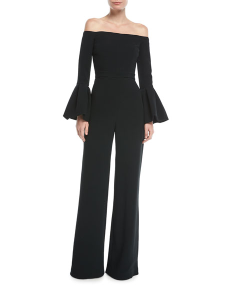 Alexis Astoria Off-the-Shoulder Bell-Sleeve Wide-Leg Jumpsuit