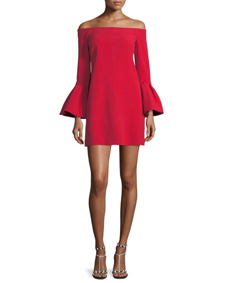 Alexis Emery Off-the-Shoulder Crepe Dress