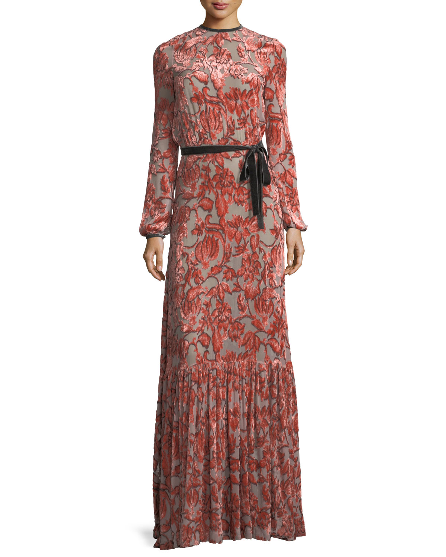 61e6f92fc00d Alexis Felice Velvet Burnout Maxi Dress