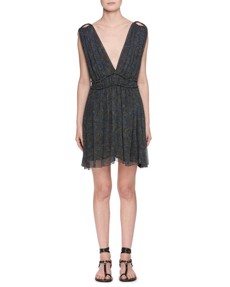 Etoile Isabel Marant Estelle Plunging-Neck Sleeveless Printed