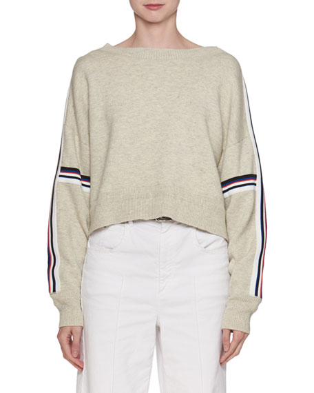 Etoile Isabel Marant Kao Boat-Neck Sweater with Stripes