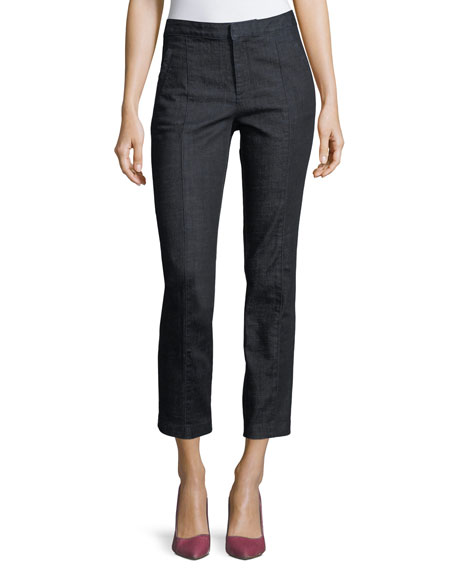 Tory Burch Vanner High-Rise Ankle Jeans
