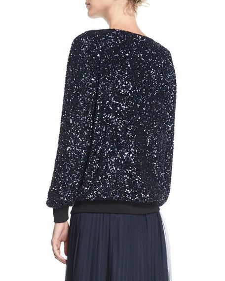 Nessa Shimmering Sequin Blouse