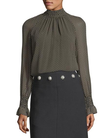 Jazz Dot Silk Georgette Shirt