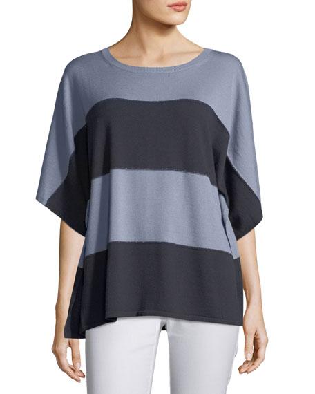 Sequin-Trim Dolman-Sleeve Sweater
