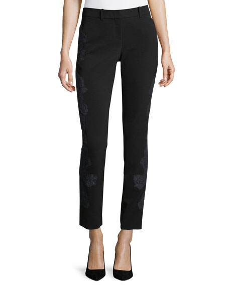 Lafayette 148 New York Manhattan Lace-Embroidered Sleek Tech