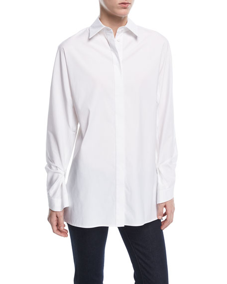 Victoria Stretch-Poplin Blouse