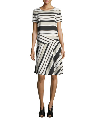 Greta Legacy Stripe Shift Dress