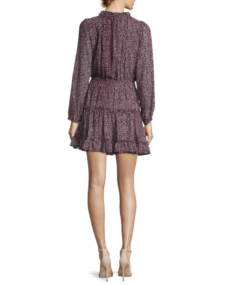 Rosemary High-Neck Animal-Print Dress