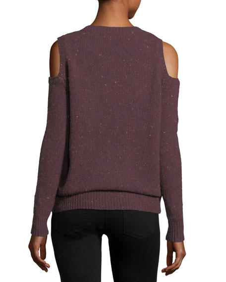 Page V-Neck Cold-Shoulder Knit Sweater