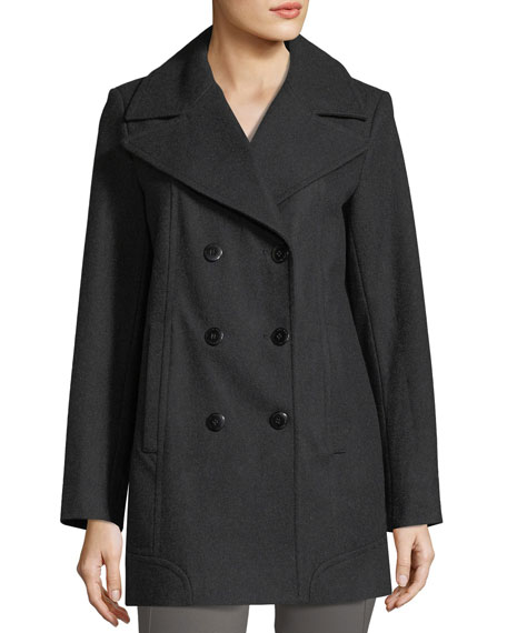 Winnie Double-Breasted Wool-Blend Coat