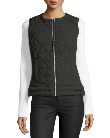 Sage Hooded Quilted Vest