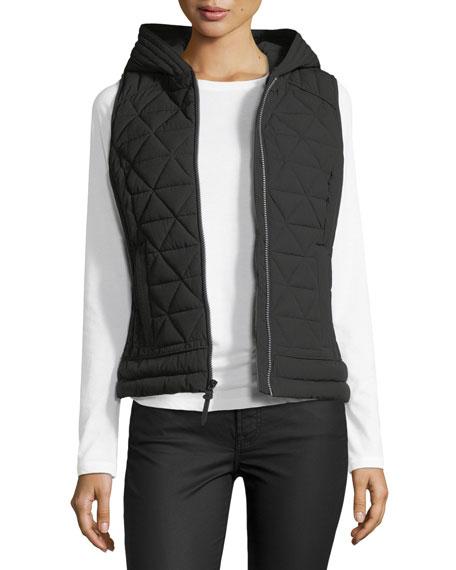 Sage Hooded Quilted Vest