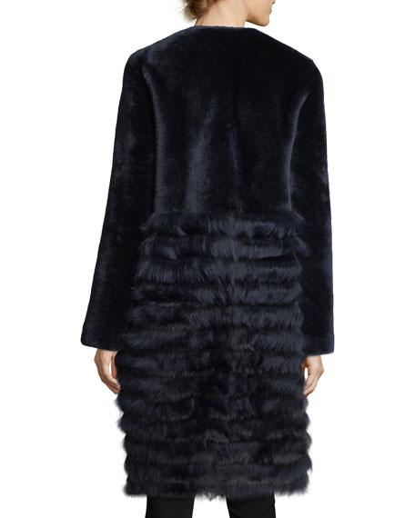 Electra Fur-Trim Shearling Coat