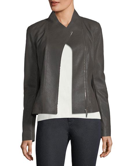 Lafayette 148 New York Alice Weathered-Leather Jacket