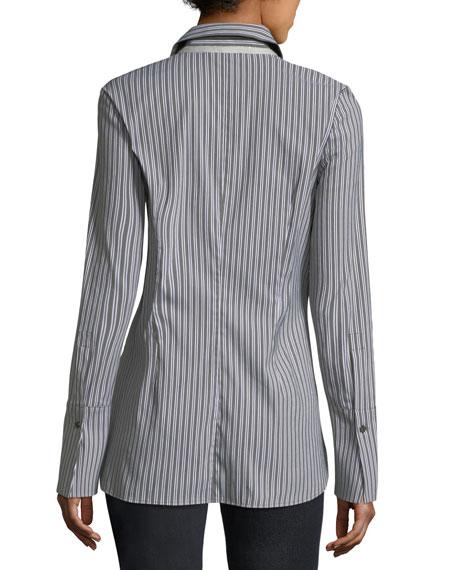 Jake Kingsbridge Stripe Shirting Blouse