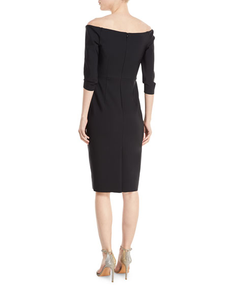 Remy Off-the-Shoulder Tech-Stretch Cocktail Dress