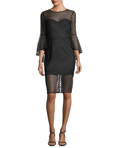 Anya Swiss Dot Tulle Cocktail Dress