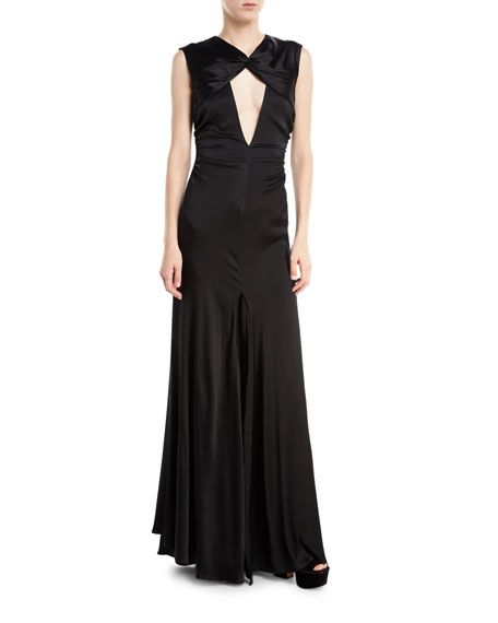 Milly Jenny Cutout Stretch-Charmeuse Gown