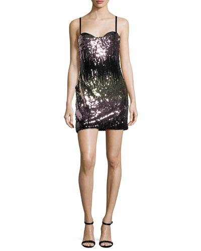 Naomi Ombre Sequins Mini Cocktail Dress